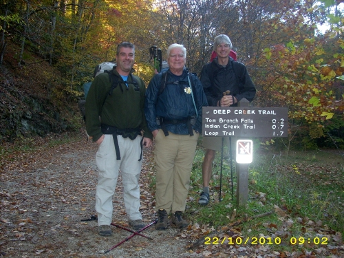 This year's three intrepid hikers