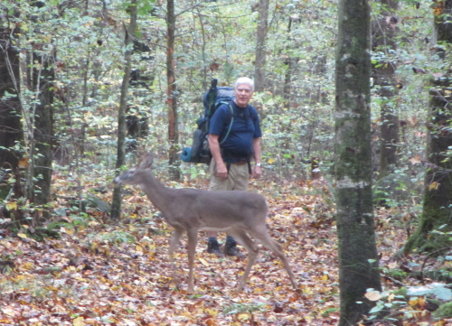 Dad and a young buck