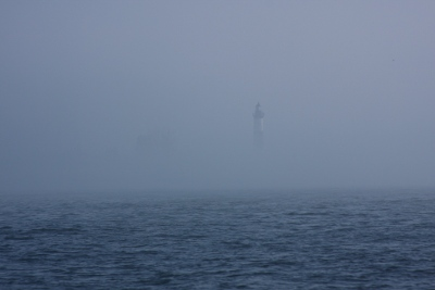Big Sable Point Lighthouse in the fog