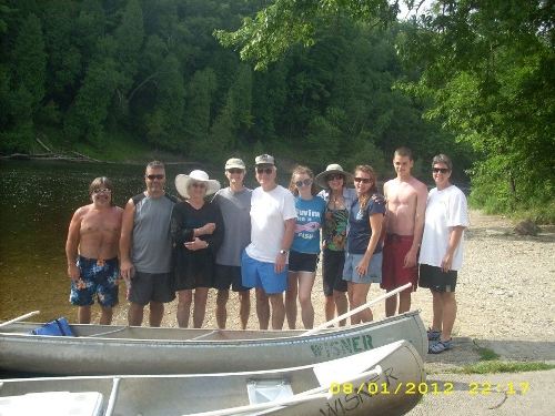 The crew assembled for the canoe trip