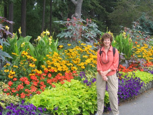 Kathy in the gardens at Beacon Hill
