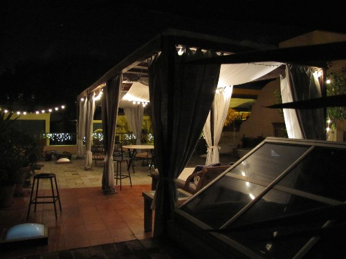 Private roof-top dining at Villa Herencia